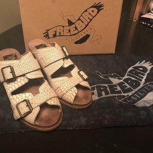FREEBIRD  by Steven peep toe leather sandals